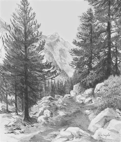 Gallery Drawing Landscape Drawings Art