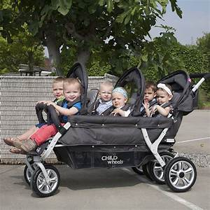Kinderwagen Für Babys : childwheels 6 sitzer kinderwagen six seater 2 f r kitas und tagesm tter inkl regenschutz ~ Eleganceandgraceweddings.com Haus und Dekorationen