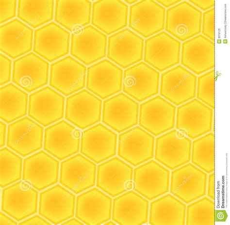 Bee honey cells background stock illustration. Image of