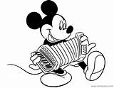Mickey Coloring Mouse Pages Accordion Playing Disneyclips Misc Activities Funstuff sketch template