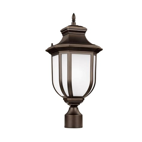 outdoor post light gama sonic imperial bulb series single black integrated