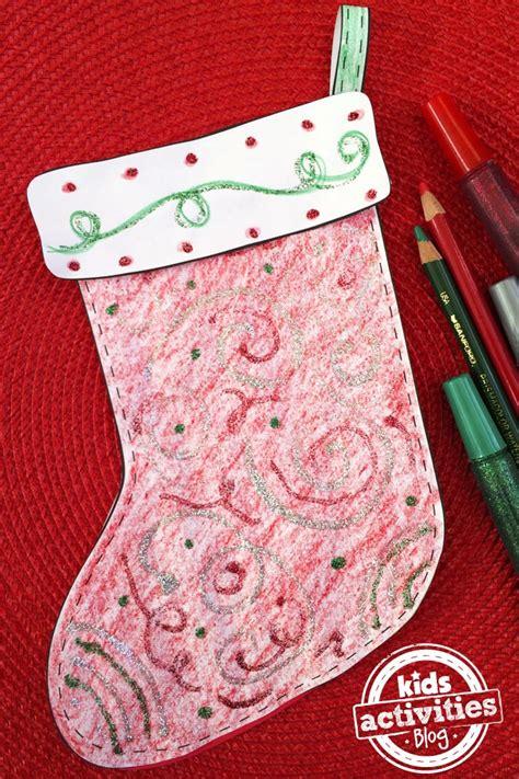 decorate  stocking  kids printable craft kids