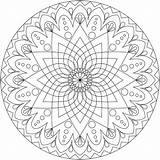 Mandala Coloring Pages Simple Detailed Therapy sketch template