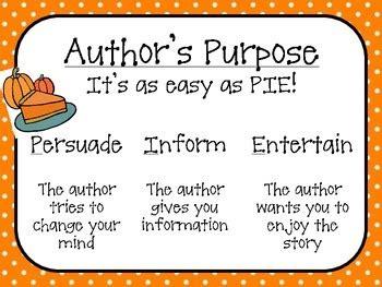 authors purpose pumpkin pie   susan schmid tpt