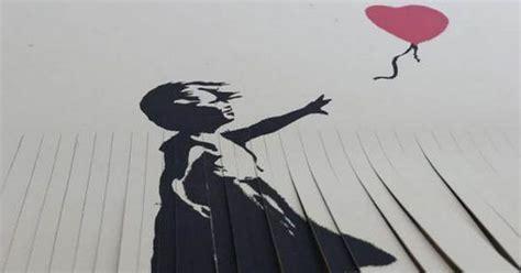 Owner Of £40,000 Banksy Shreds Artwork To Copy Artist