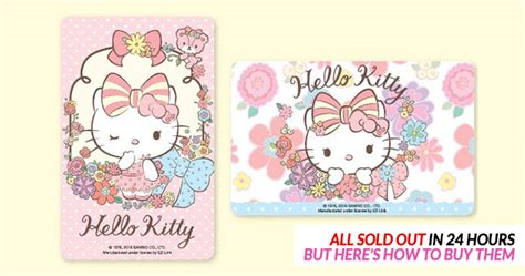 Ez-link's Hello Kitty Flower Series Sold Out In Less Than