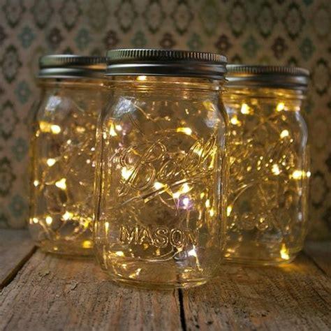 diy jar lights run a small strand of
