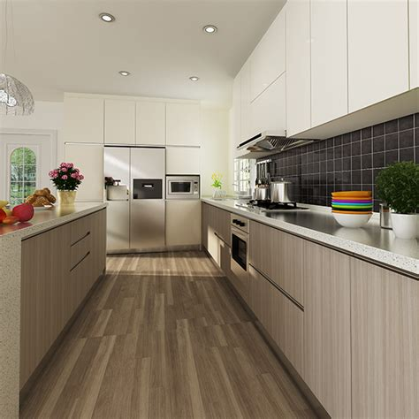 40483 modern wood kitchen cabinets op14 m06 modern wood grain melamine kitchen cabinet