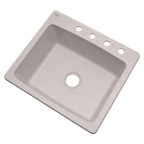 white single bowl kitchen sink mont blanc woodbridge dual mount granite 1868
