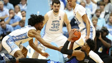 duke  unc results coby white leads heels  sweep