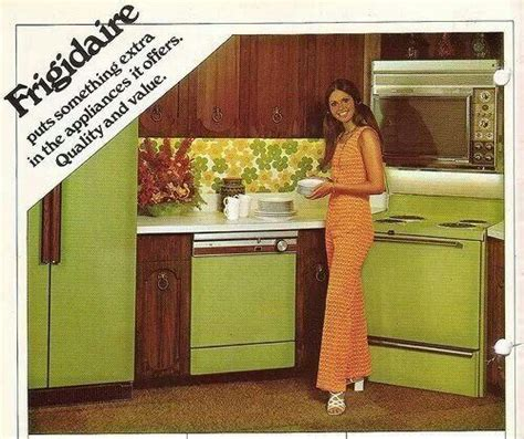 avocado green kitchen avacado appliances frigidaire refrigerator fridge 1396