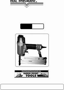 Central Pneumatic Air Compressor 95218 User Manual