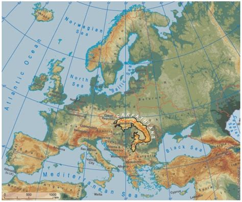 Carte Fleuves Europe Centrale by Montagnes D Europe
