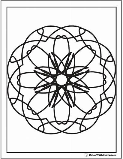 Coloring Geometric Pages Kaleidoscope Pattern Adult Adults