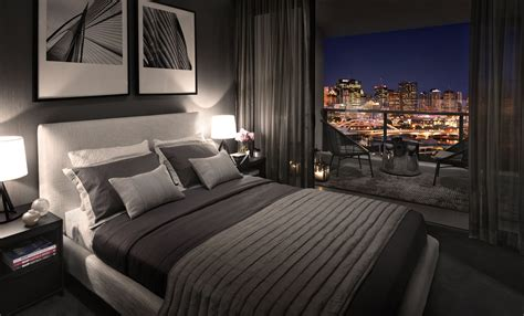 Cool Inspiration Modern Luxurious Bedroom Design With City