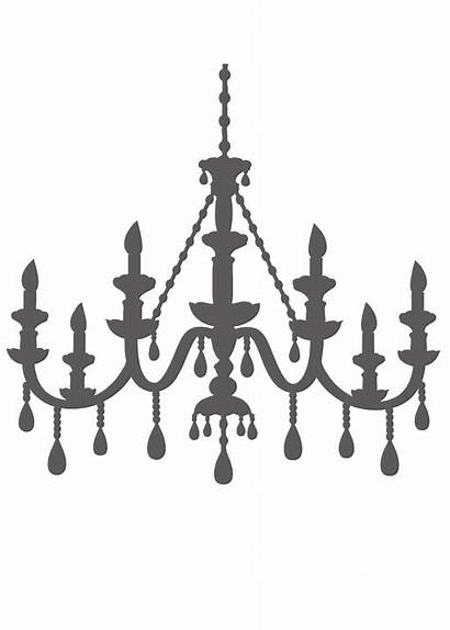 Chandelier Silhouette Template Clipart Templates Brooke Halloween