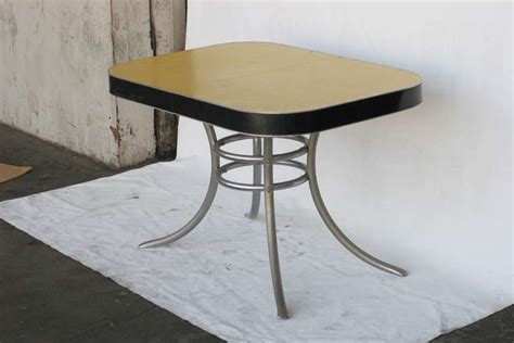 mid century kitchen table mid century formica kitchen table with chrome legs at 1stdibs