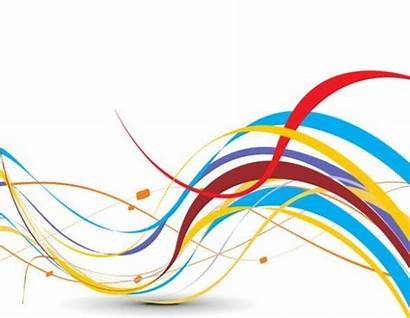 Abstract Vector Wave Colorful Ribbon Background Illustration
