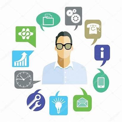 Tasks Symbols Clip Businessman Symbol Affari Lavorativi