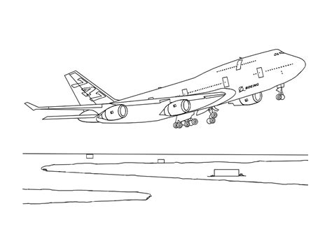 printable airplane coloring pages  kids