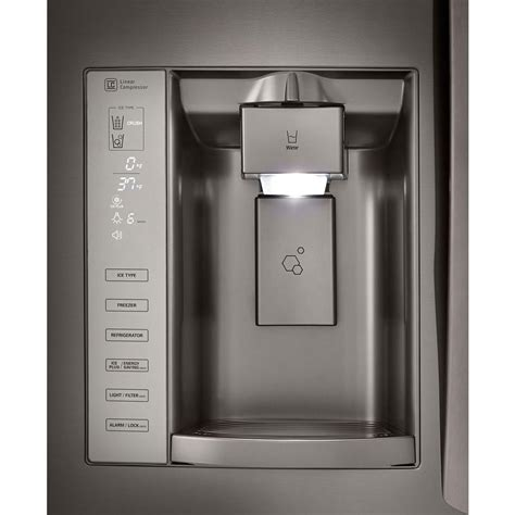 lg  cu ft french door refrigerator  dual ice maker