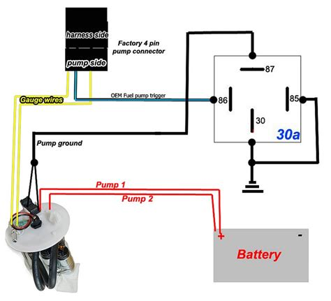 Fuel Pump Rewire Relay Diagram For Dual Tank Pumps