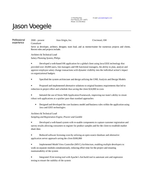 Application Architect Resume Template by Executive Architect Resume Template