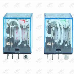 Hh63p Ly3 Ly3nj Jqx 13f Relay 220v 24v 12v 12 Volt Ac  Dc 10a 11pin Silver Contact Dpdt Electric