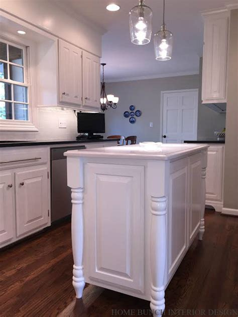 kitchen islands that look like furniture before after kitchen reno with painted cabinets home