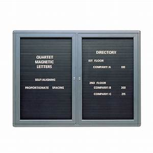 Enclosed letter directory boards school furniture at for Directory board letters