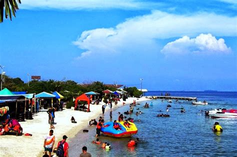 wisata pantai sakura  pulau untung jawa dikembangkan