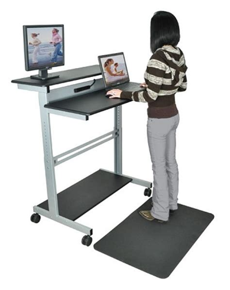 stand up desk luxor standup 40 stand up workstation