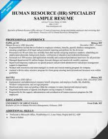 human resource resume sles behavioral science section materials