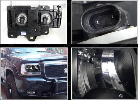 99 00 cadillac escalade black style reflector headlights