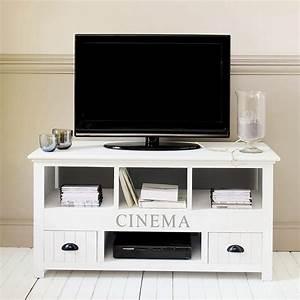 Meuble TV En Bois Blanc Newport Meuble Tv Maisons Du