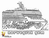 Cruise Coloring Pages Ship Gem Norwegian Printable Colouring Ships Sheet Disney Template Boys Yescoloring Cruises Stupendous sketch template