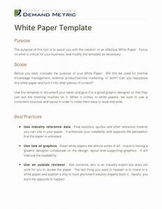 White paper template for White paper outline template