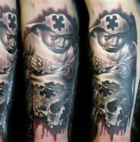 59 Tatuajes de piezas de puzzle (Con el significado)