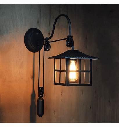 Lampe Industrielle Murale Japanese Japonais Applique Hoshi