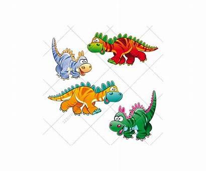 Dinosaur Vectors Cartoon Vector Funny Illustration Character