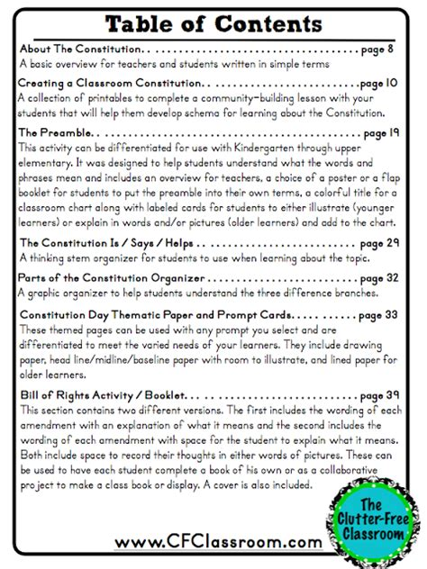 Constitution Day Activities, Ideas, Printables And Resources For K5  Clutterfree Classroom