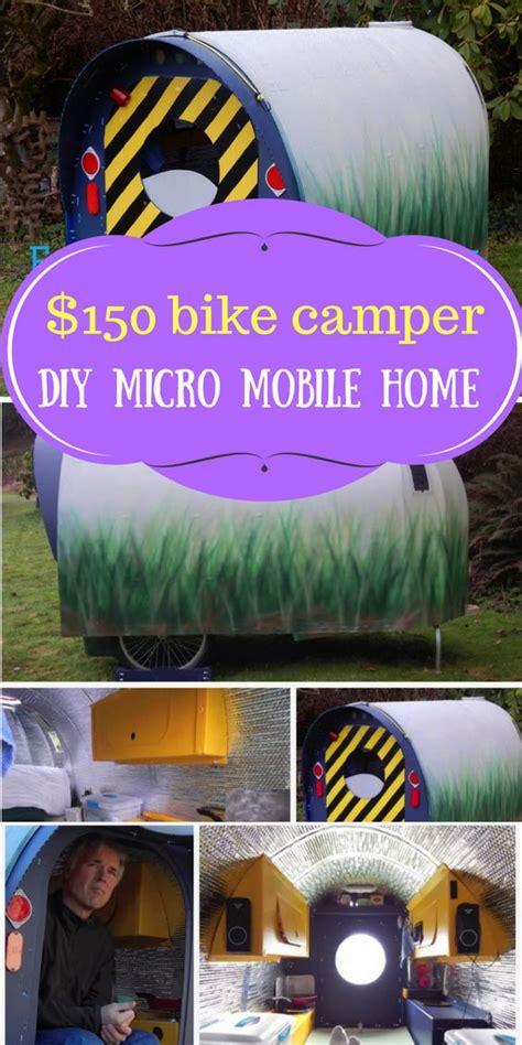 bike camper diy micro mobile home home