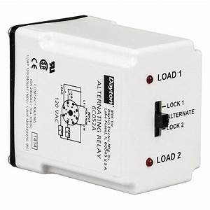 Dayton Alternating Relay  10 Amps  24vac  8 Pins  Dpdt Cross-wired - 6c051