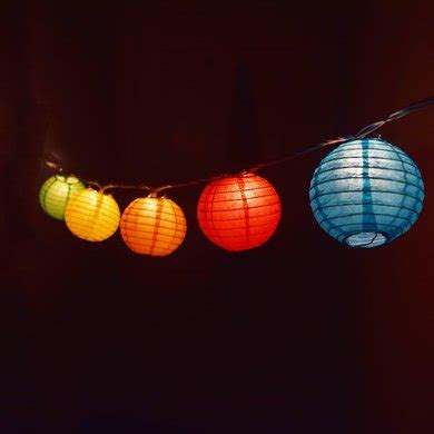 multi colored paper lantern string lights 10