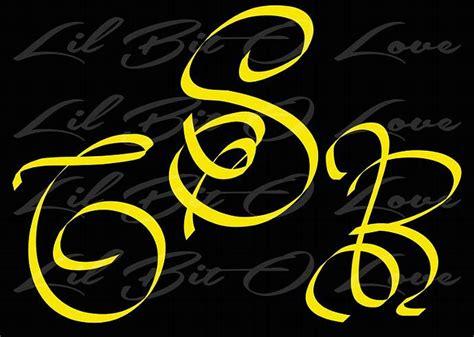 4 letter monogram decal monogram sticker personalized script personalized monogram vinyl decal by lilbitolove on 44525