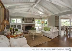 Raising A Ceiling by 15 Homey Country Cottage Decorating Ideas For Living Rooms