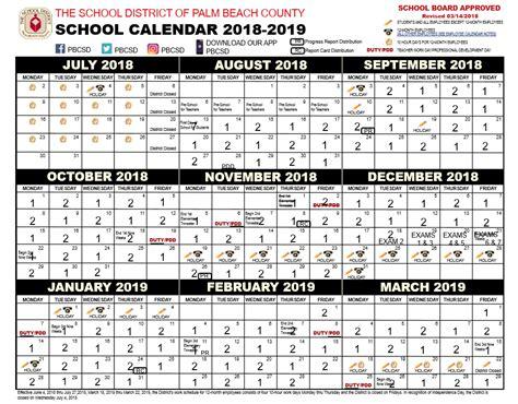 palm beach school calendar printable images