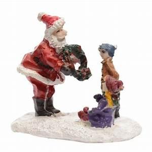 Personnage Pour Village De Noel : figurine enfant et p re no l village de noel eminza ~ Melissatoandfro.com Idées de Décoration