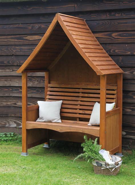 afk garden furniture goodwood arbour beech  chestnut