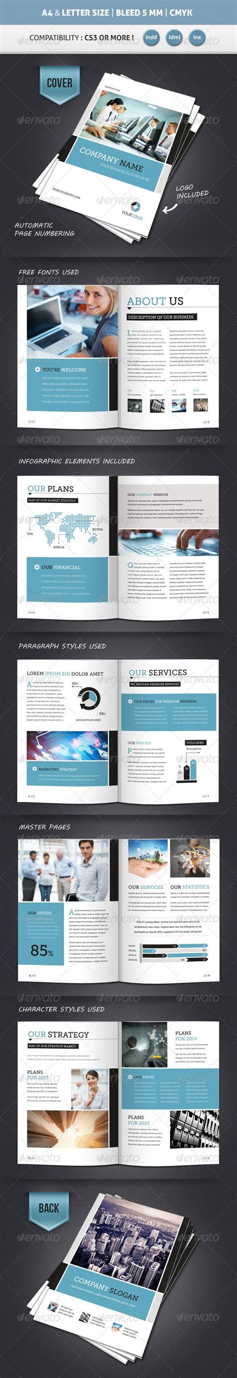 Free Business Brochure 8 Pages A4 Free Psd Corporate Brochure Template A4 Letter 12 Pages